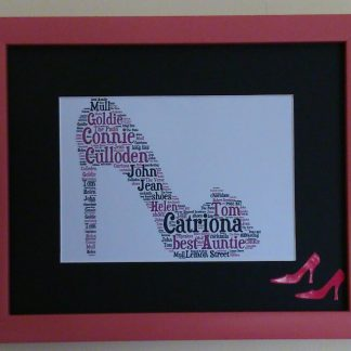 High Heel Shoe Word Art