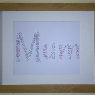 Mum Word Art