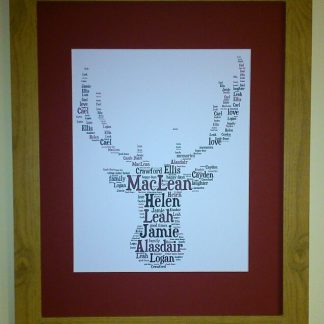 Stags Head Word Art