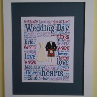 Wedding Day Word Art