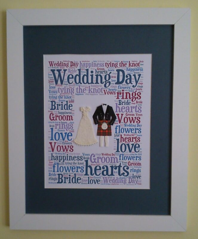 Wedding Day Word Art