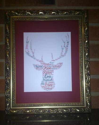 Stags Head Gold Frame