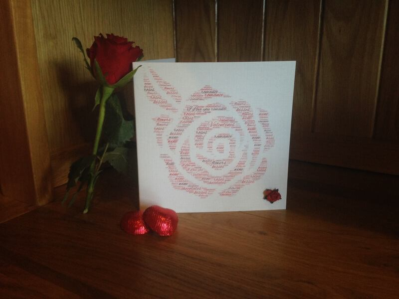 Valentines Card Rose