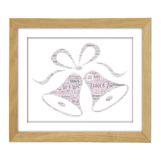 Wedding Bells Wooden Frame
