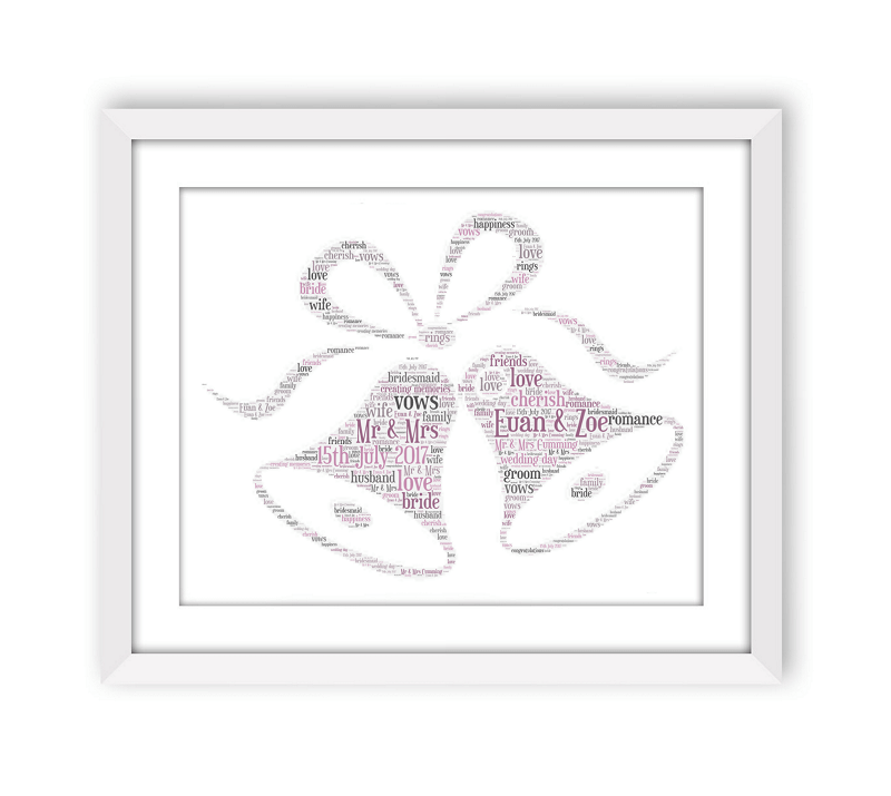 Wedding Bells White Frame