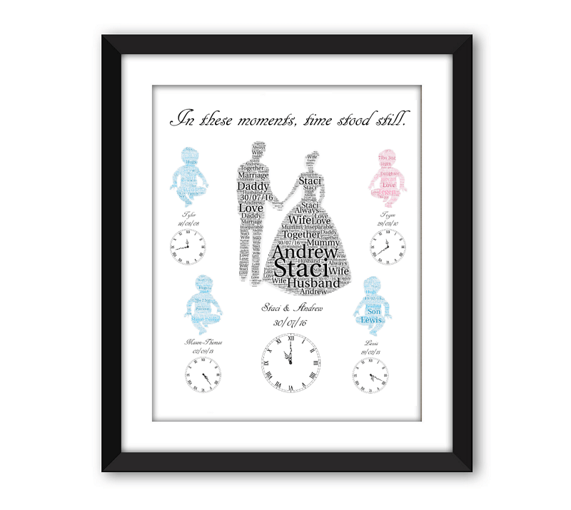 Wedding and Baby Black Frame