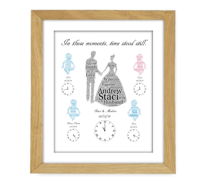 Wedding and Baby Wooden Frame