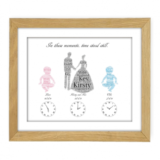 Wedding and Baby wooden frame 2 babies