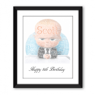 Boss Baby Black Frame