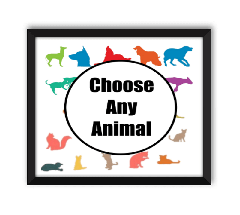 Choose Any Animal Black Frame