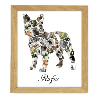 French Bulldog Wooden Frame