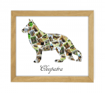 German Shepherd Wooden Frame