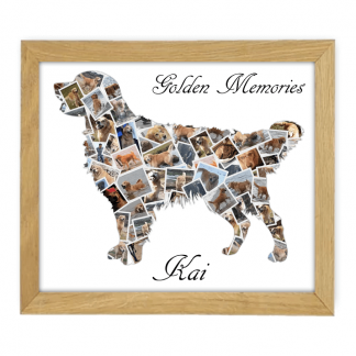 Golden Retriever Wooden Frame 800