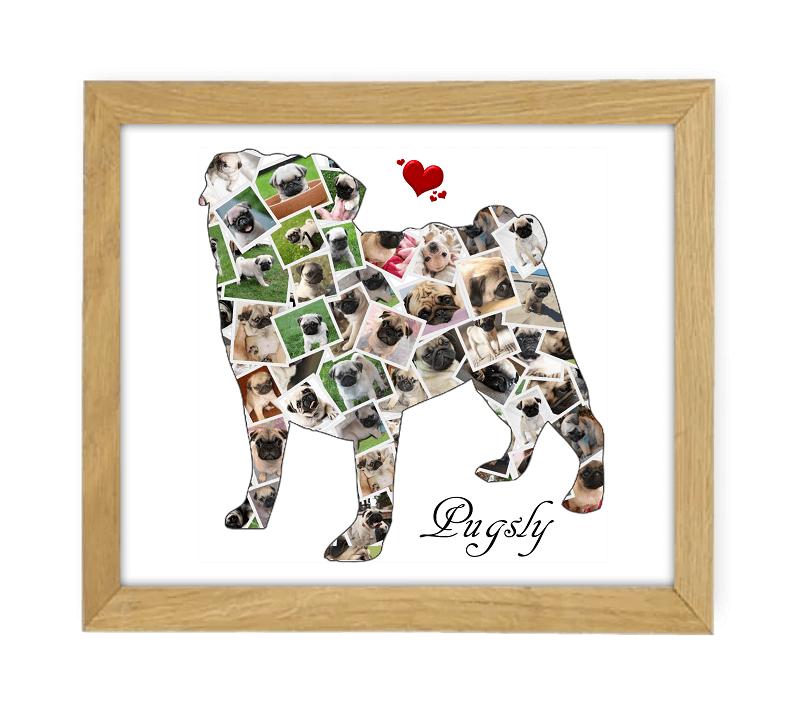 Pug Wooden Frame