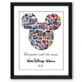 Mickey Mouse Head Collage