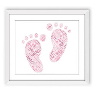 Baby Girl Footprints