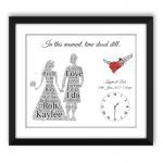 Tartan Heart Kilt Wedding Black Frame