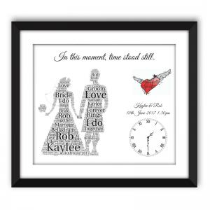 Personalised Kilted Wedding Word Art Frame