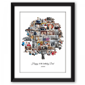 Family Tree Collage Black Frame