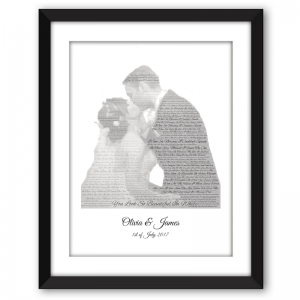 Wedding Song and Wordart Picture Frame