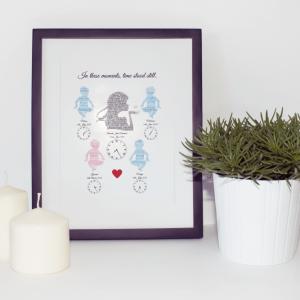 Mother & Babies Word Art Frame
