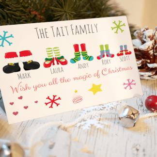 Santa Feet Christmas Cards