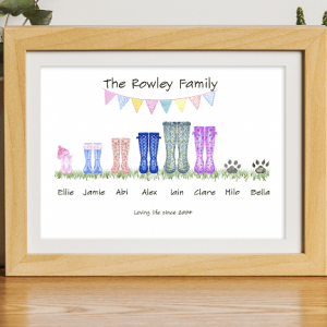Family Wellie Boot Print