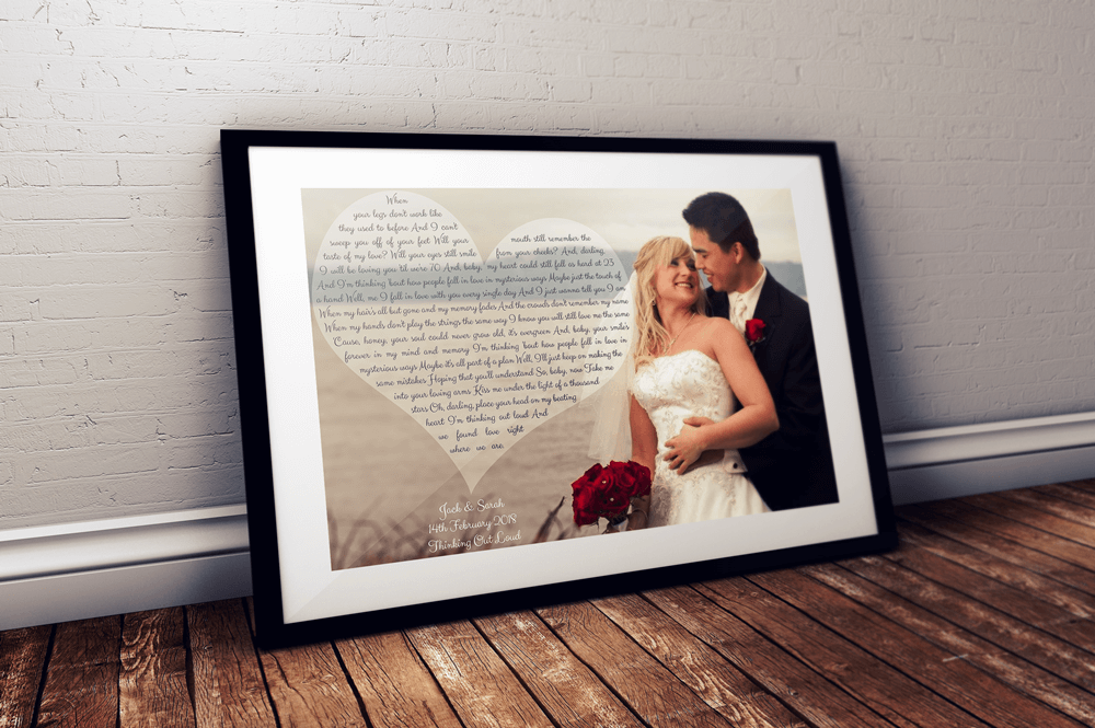 Personalised Our Song First Dance Wedding Gift Black Frame