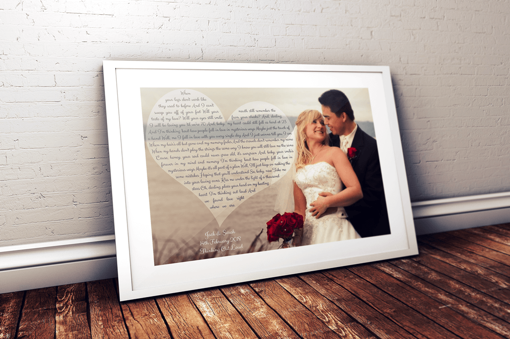 Personalised Our Song First Dance Wedding Gift White Frame