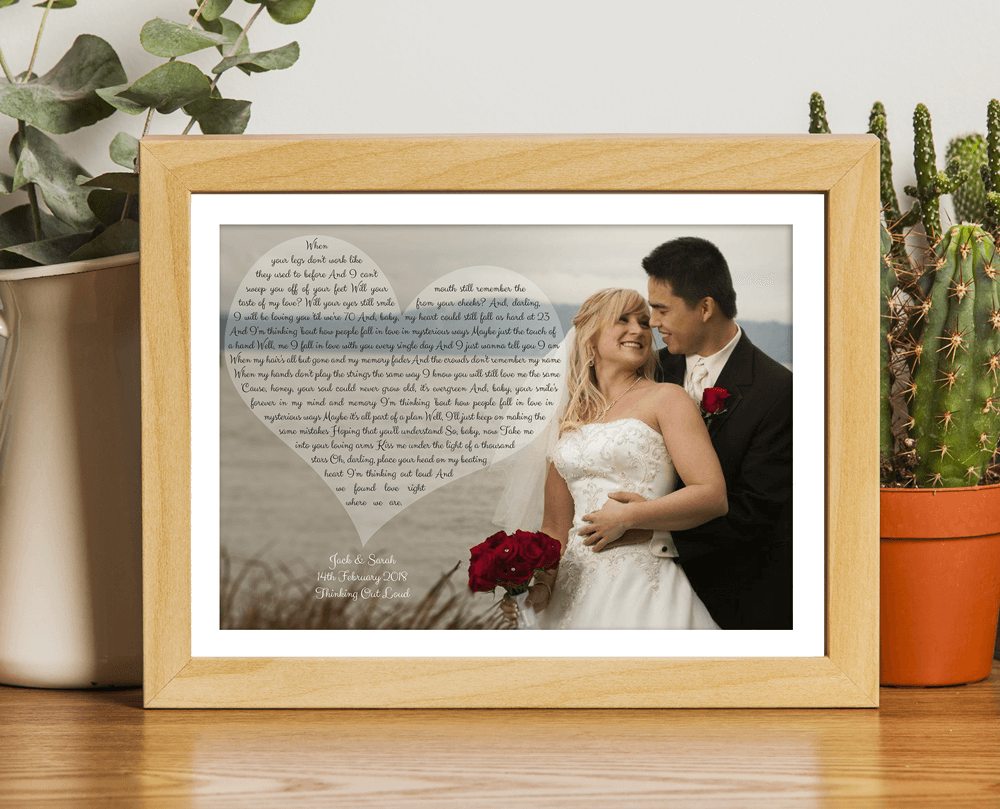 Personalised Our Song First Dance Wedding Gift Wooden Frame