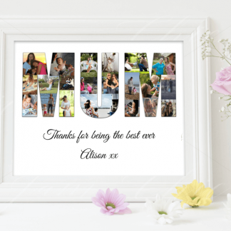 Mothers Day Collage White Frame