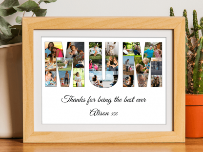 Mothers Day Collage Wooden Frame