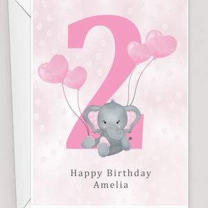 Personalised 2nd Birthday Card