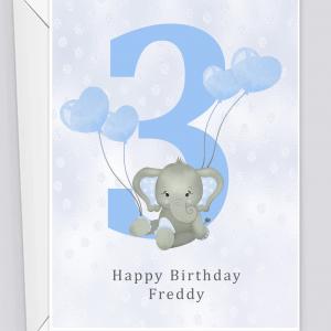Personalised 3rd Birthday Card