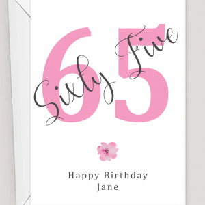 Personalised 65th Birthday Card
