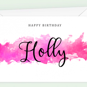 Personalised Watercolour Birthday Card