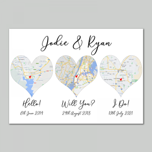 Hello Will You I Do Map Canvas Prints