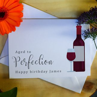 Aged To Perfection Wine Card